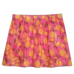 J. Crew pineapple printed cotton mini skirt SZ XS